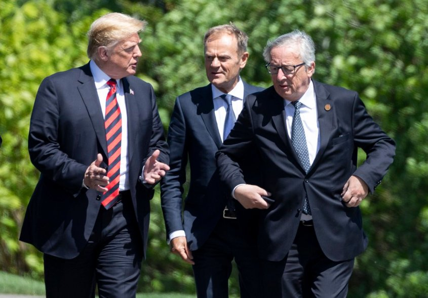 Trump with EU leaders