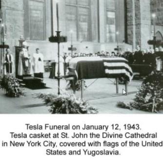 tesla funeral