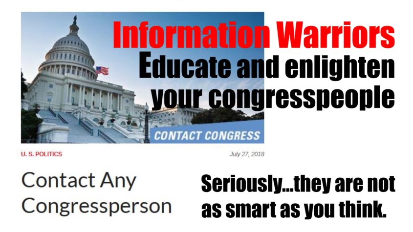 information warriors educate congress
