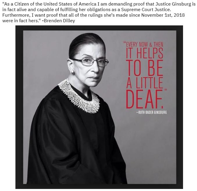 proof that ginsberg is alive