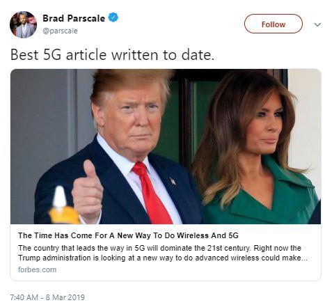 brad parscale tweet 5g