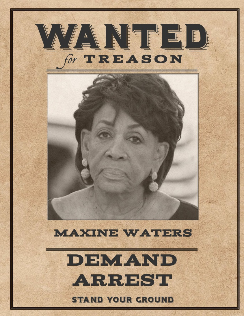 Wanted Maxine Waters
