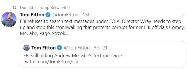 tom fitton tweet