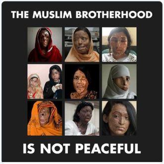 Muslim not peaceful