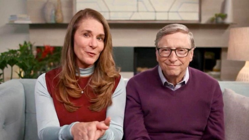 melinda and bill gates seated