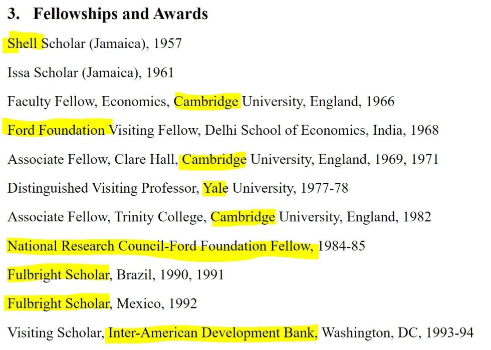 fellowships awards harris